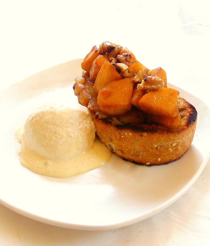 bruschetta tarte tatin aux noix 2