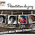 Découvrez le jury du concours miss /mister crapule 2013 par crapule factory