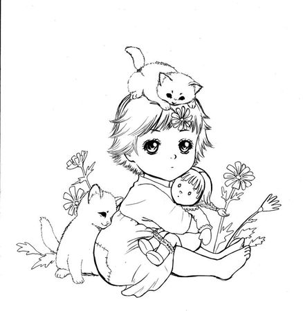 baby_and_cats_by_tranhuong1990