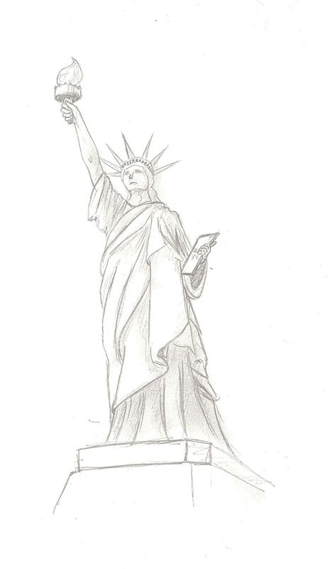comment dessiner la statue de la liberté