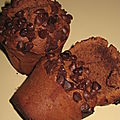 Muffins tout chocolat
