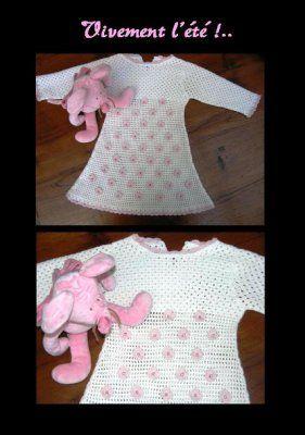 Robe au crochet Anny Blatt, 2 ans