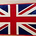 Descente de lit motif drapeau anglais