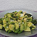 Salade avocat - asperges - citron