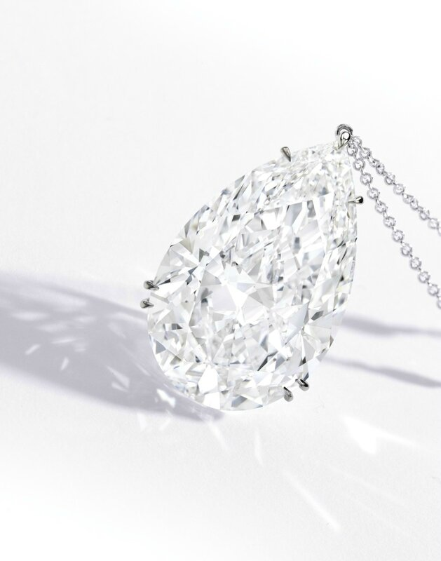 Highly Important Platinum and Diamond Pendant Necklace