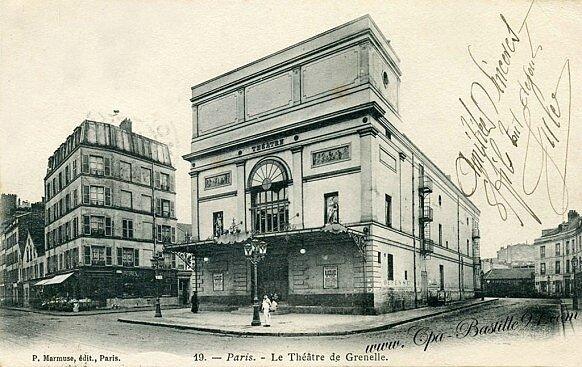 carte-postales-anciennes-Paris-Théatre-de-Grenelle-582x367
