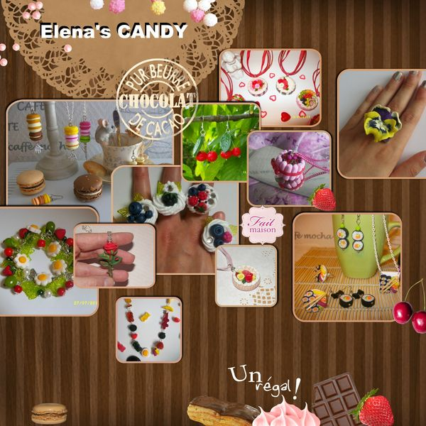 Elena's candy gourmandyses flyer
