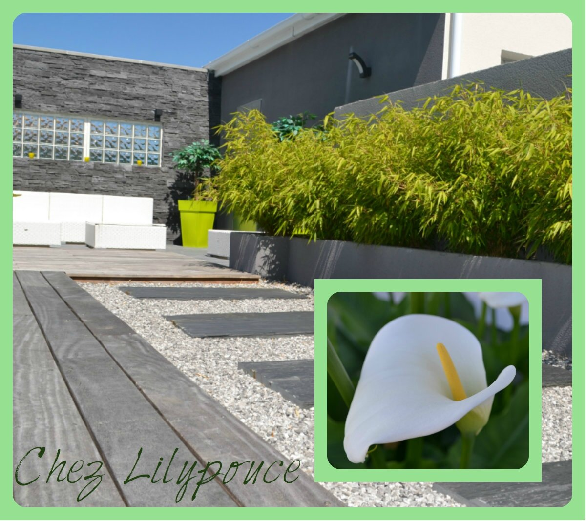 Piscine zen chez lilypouce for Amenagement exterieur jardin zen