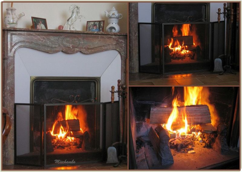 Et si on prenait un petit apéro au coin du feu .........