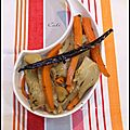 FRICASSEE DE FENOUILS & CAROTTES A LA VANILLE - FRICASSEE DE HINOJOS & ZANAHORIAS A LA VAINILLA 