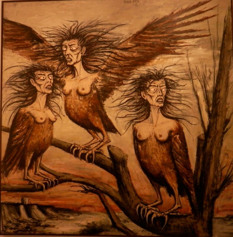 Buffet L'enfer de Dante Les Harpies 1976