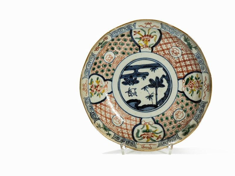 Ko-Akae Plate with Décor in Underglaze blue, China, Tianqi period (1621-1627)