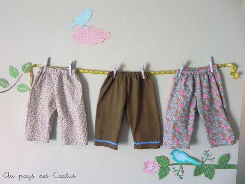 Pantalons taille élastique Au pays des Cactus
