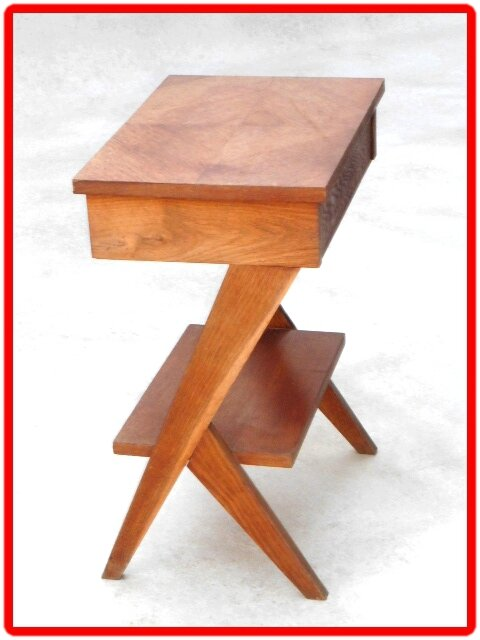 Table bout de canape chevet vintage scandinave vendu for Pied de table scandinave