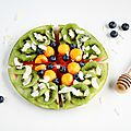 Tarte de pastèque aux kiwis, nectarines et myrtilles