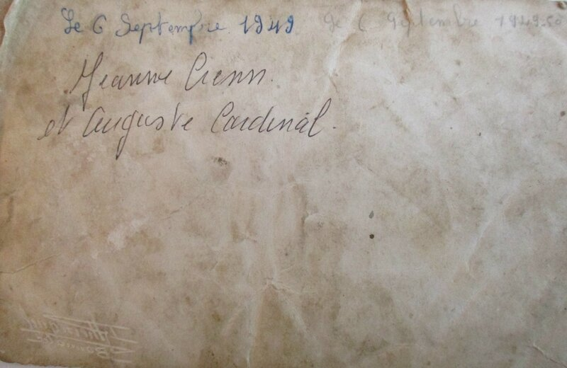 1949 M Marie-Louise Q et Yves CRENN verso