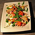 Salade printanniére aux petits lardons