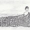 2. Le jeune homme de la mer pris dans le filet.