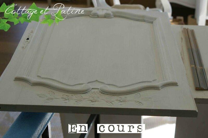 Cottage et Patine meuble à couture relooking blanc creme_02