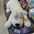 Tintin, peluche milou de hergé endormi 50cm éd. moulinsart 25€