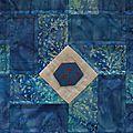 patch carrés bleu détails 3