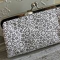 Big clutch White&silver