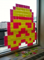pixel art - post it - starwars