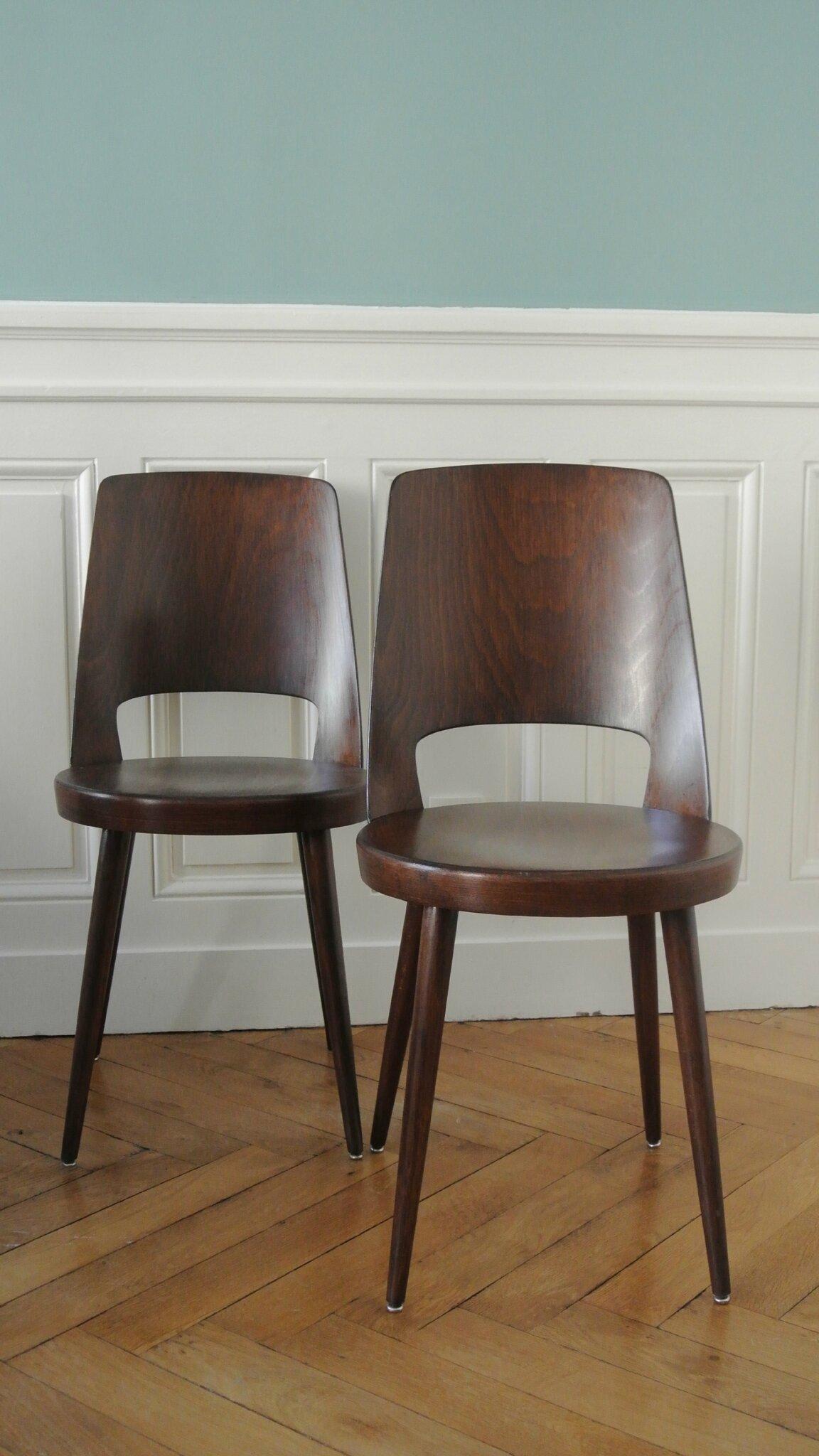 suite de chaises bistrot baumann ann es 60 solveig vintage galerie. Black Bedroom Furniture Sets. Home Design Ideas