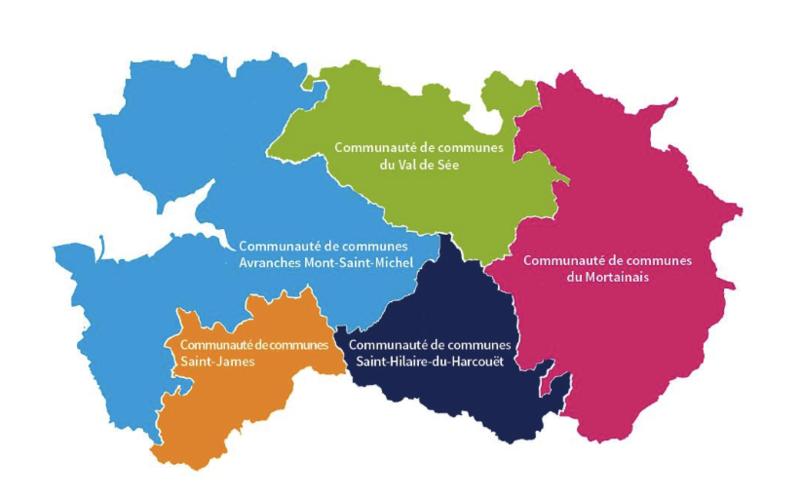 Communauté d'agglomération Mont-Saint-Michel Normandie carte plan 2017