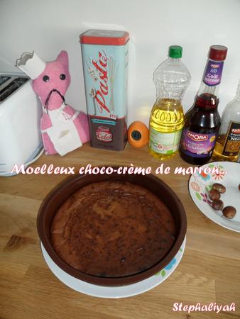 Moelleux choco-crème de marrons -- 11 novembre 2012