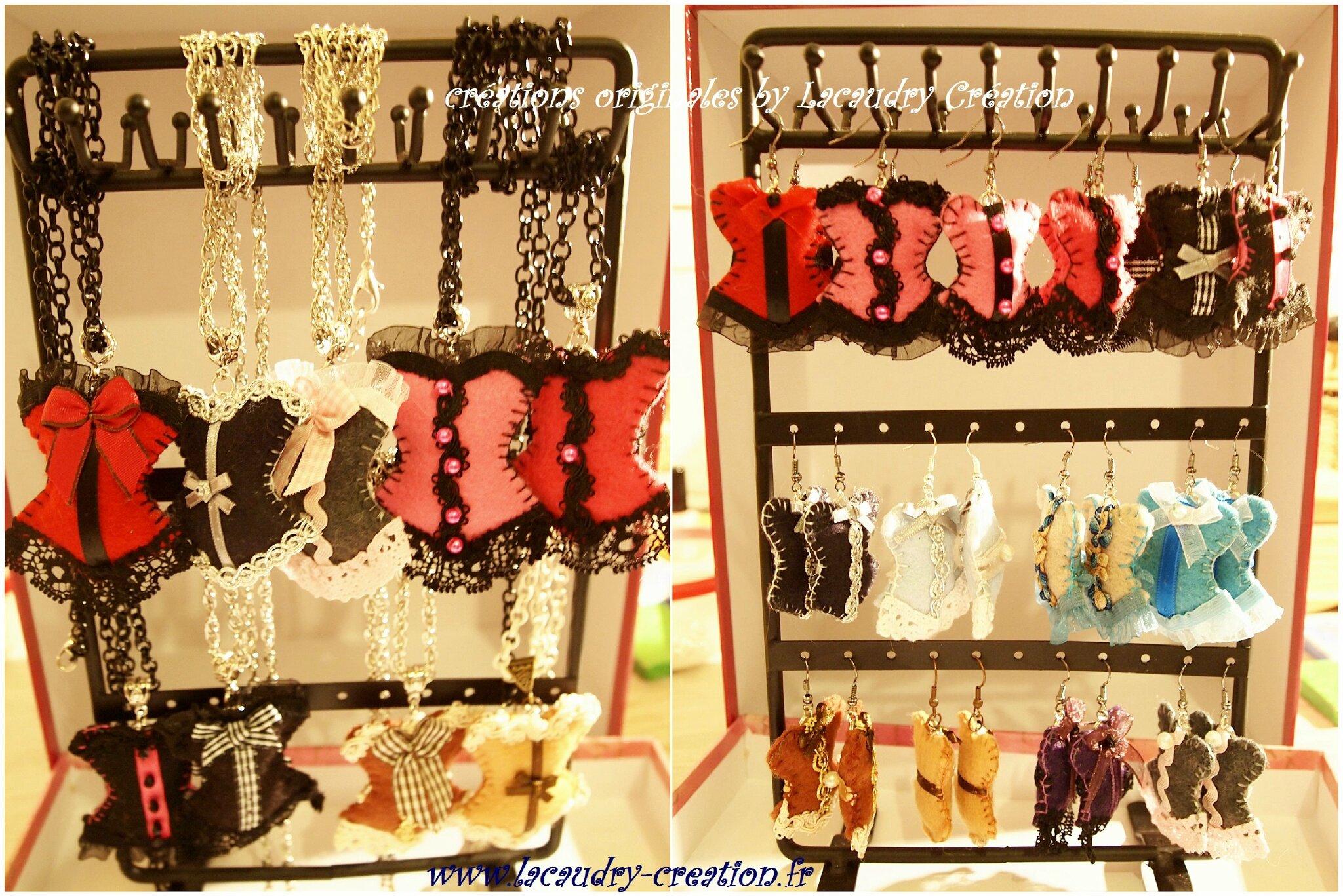 Des parures bijoux corsets pour mon marché de NOEL DU WEEK END