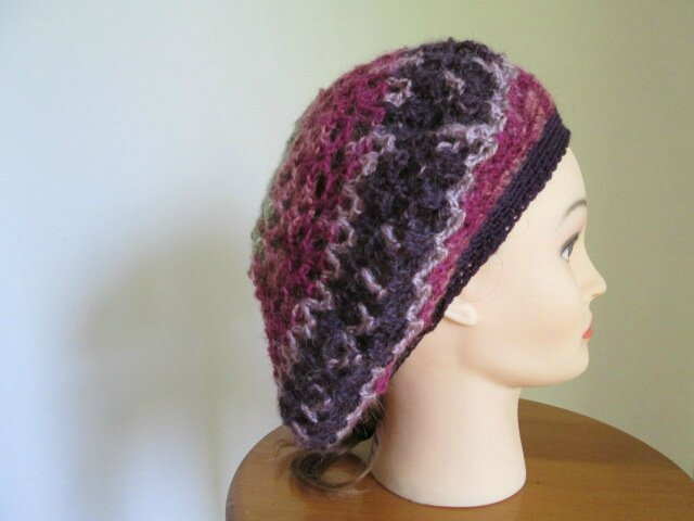 Beret et snood en angora active (5)