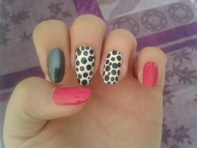 4 nail art pour les d butantes fait enti rement au vernis cerise12nailart - Nail art debutant ...