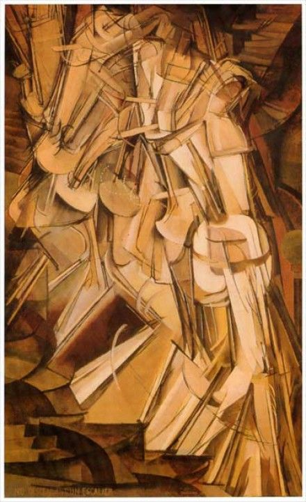 40. Marcel DUCHAMP, Nu descendant l'escalier, 1913.
