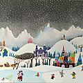 Paysage hivernal de russe