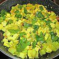 Tofu artisanal aux courgettes, ail, persil et noisettes