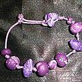 Bracelet enfant rose et violet