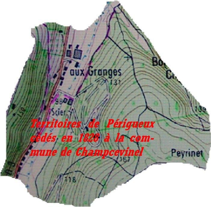 Territoire cédé en 1828 à la commune