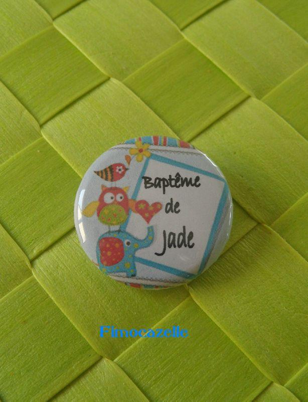 badge bapteme jade