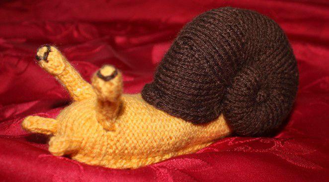 tricoter un escargot
