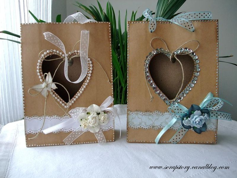 Les sacs cadeaux en papier kraft scrap story - Decorer un album photo ...