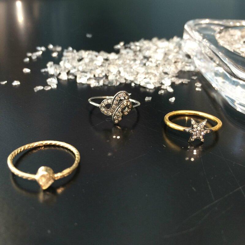 Bagues quartz vermeille éclats de diamant noir 5 OCTOBRE et Mathilde DANGLADE printemps 2016 Boutique Avant Après 29 rue Foch 34000 Montpellier (5)