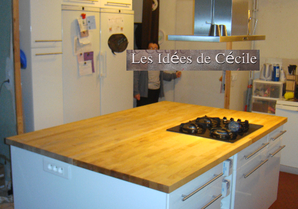 Cuisine l 39 il t central mam 39 coupiq for Plan travail ilot central