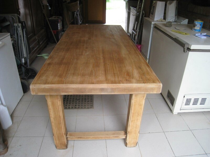 Repeindre une table en chene atelier retouche paris - Repeindre un meuble en chene ...