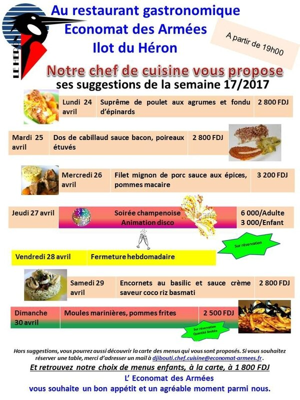 20170417 Suggestions du chef S17