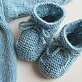 Petite layette bleue schtroumpf