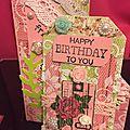 Tag et petite carte pour un anniversaire
