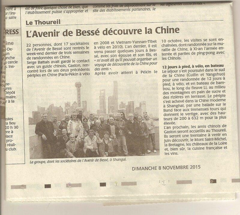 L'Avenir de Bessé découvre la Chine du 9 au 31 octobre (c