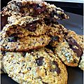 COokies  la banane, noix, avoine et chocolat