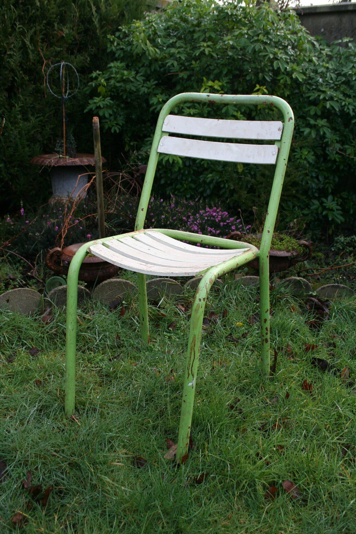 chaises bistrot bois m tal album photos r tro industriel. Black Bedroom Furniture Sets. Home Design Ideas